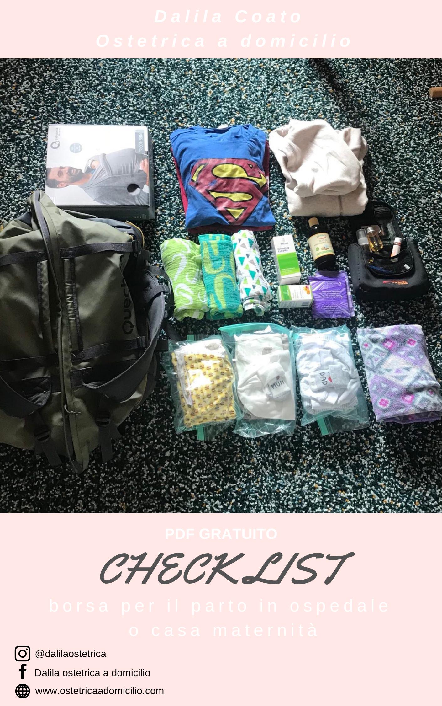borsa per il parto: checklist